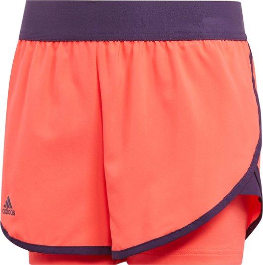 Adidas Girls Club Shorts, Coral 116