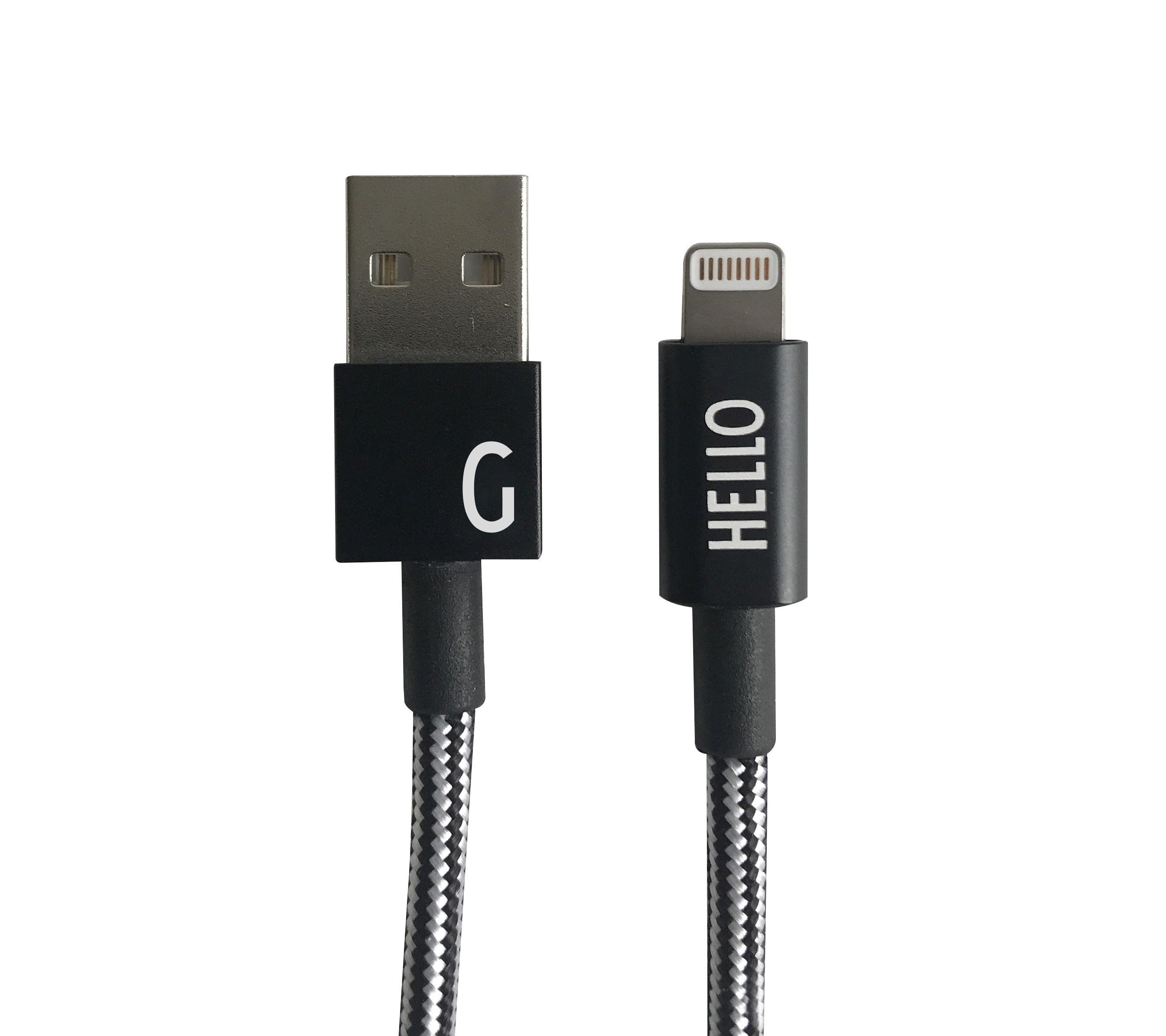 Design Letters - Lightning Cable 1 Meter G - Black (60201010G)