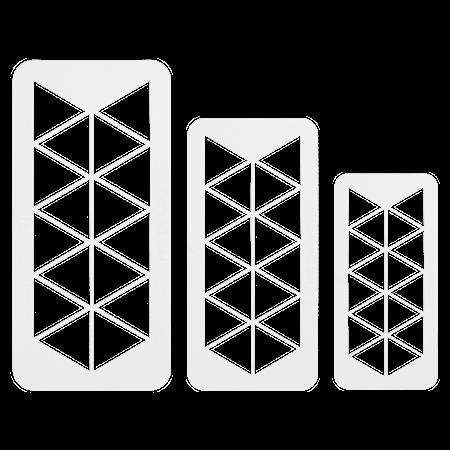 Geometrisk Multiskärare Triangel 3 st
