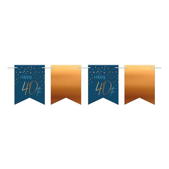 Flaggirlang Happy 40th True Blue