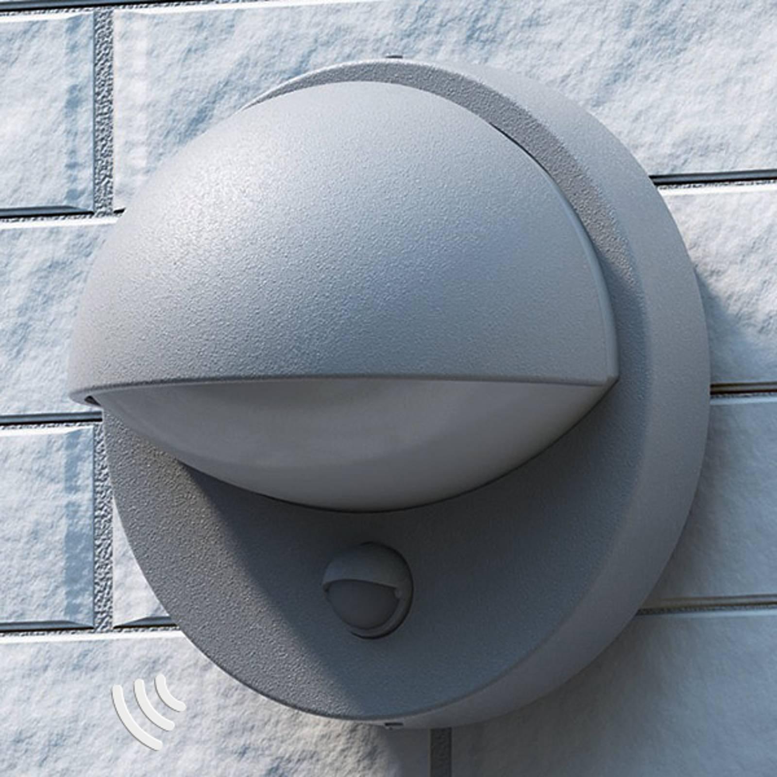 Energieffektiv grå Vida utendørslampe med sensor