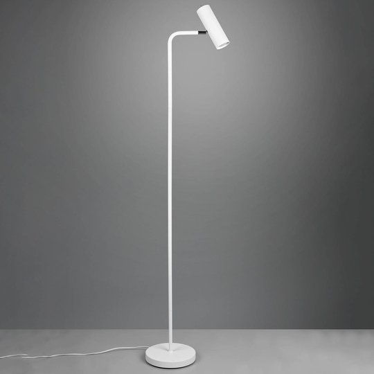Gulvlampe Marley, matt hvit