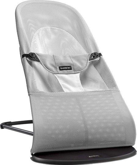 BabyBjörn Balance Soft Vippestol Mesh, Sølv/Hvit