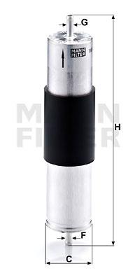 Polttoainesuodatin MANN-FILTER WK 521/3