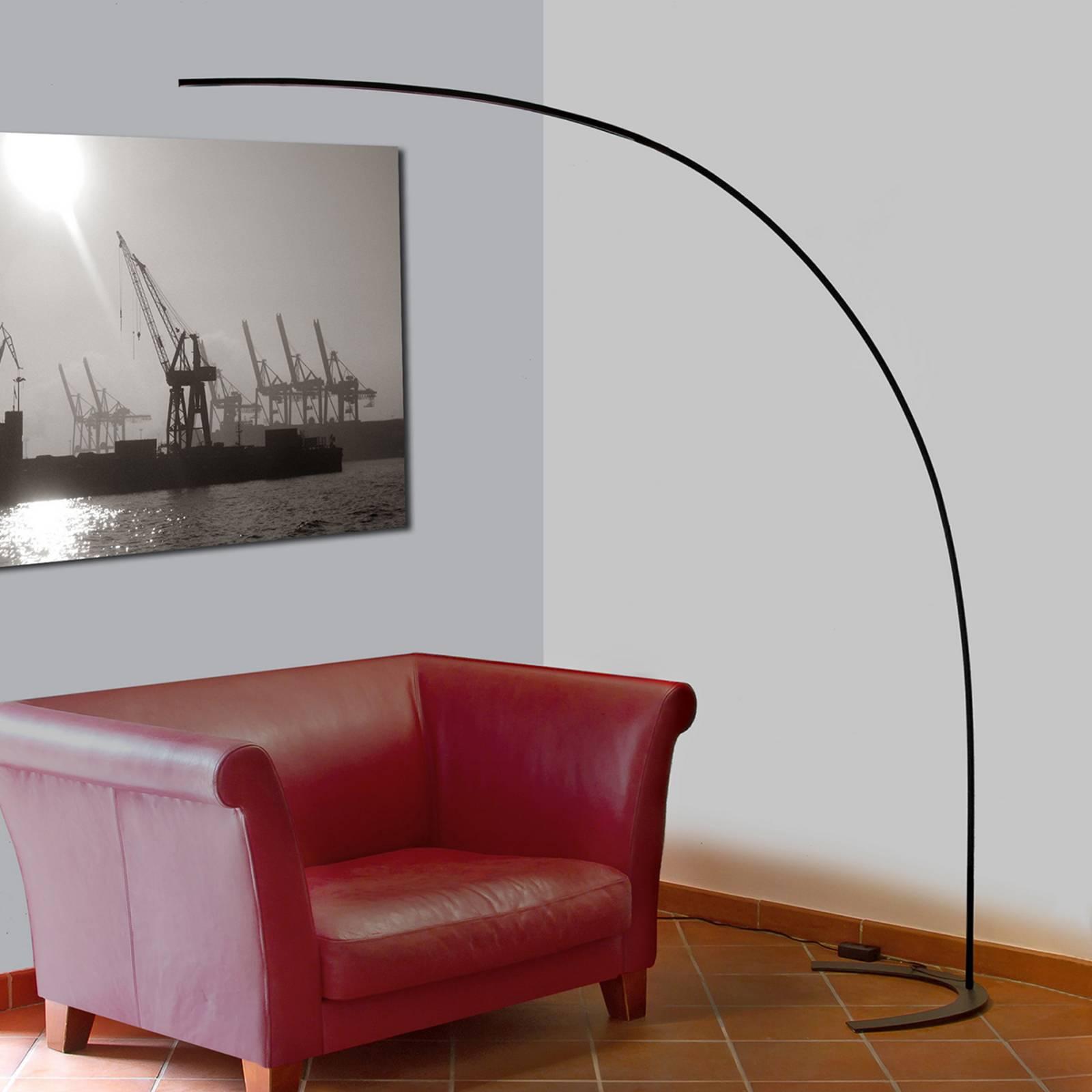 LED-lattiakaarivalaisin Danua, musta