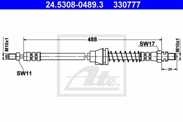 Jarruletku ATE 24.5308-0489.3