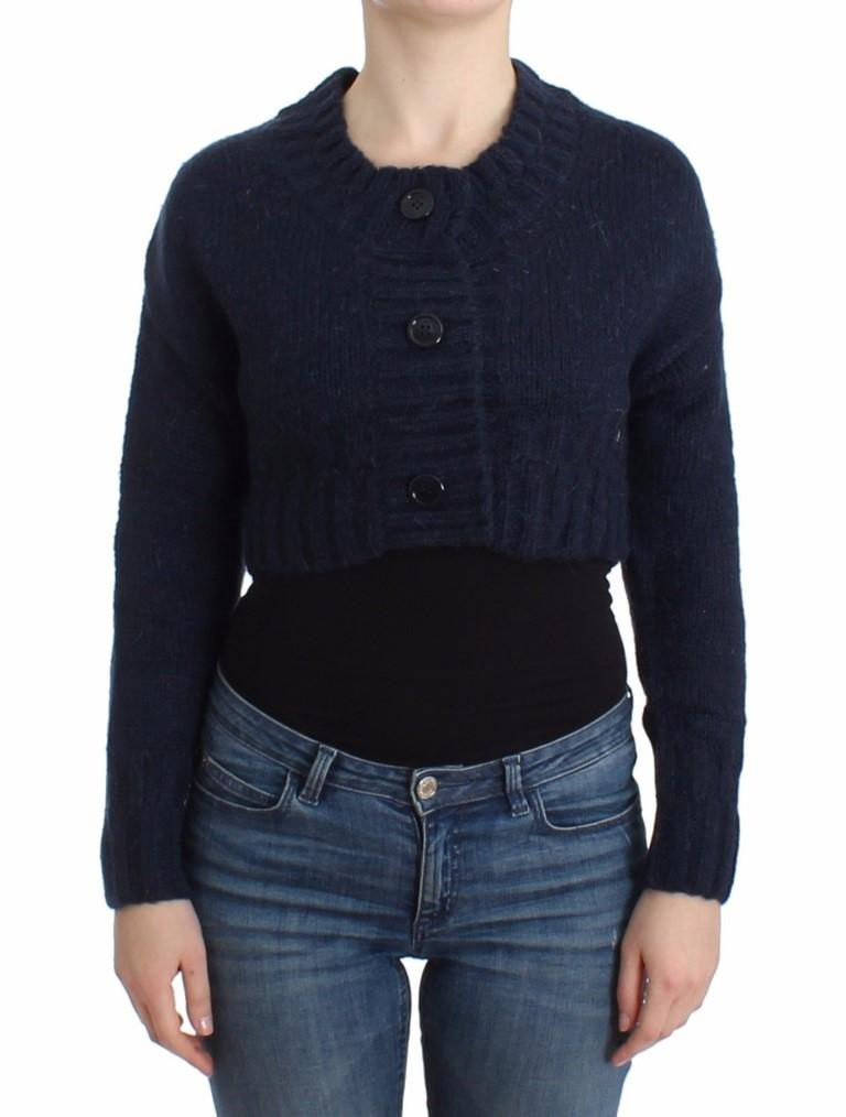 John Galliano Women's Cropped Cardigan Blue SIG12103 - XS