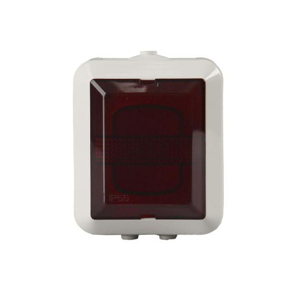 ABB 2661SW-12 Signalpære rød, utenpåliggende