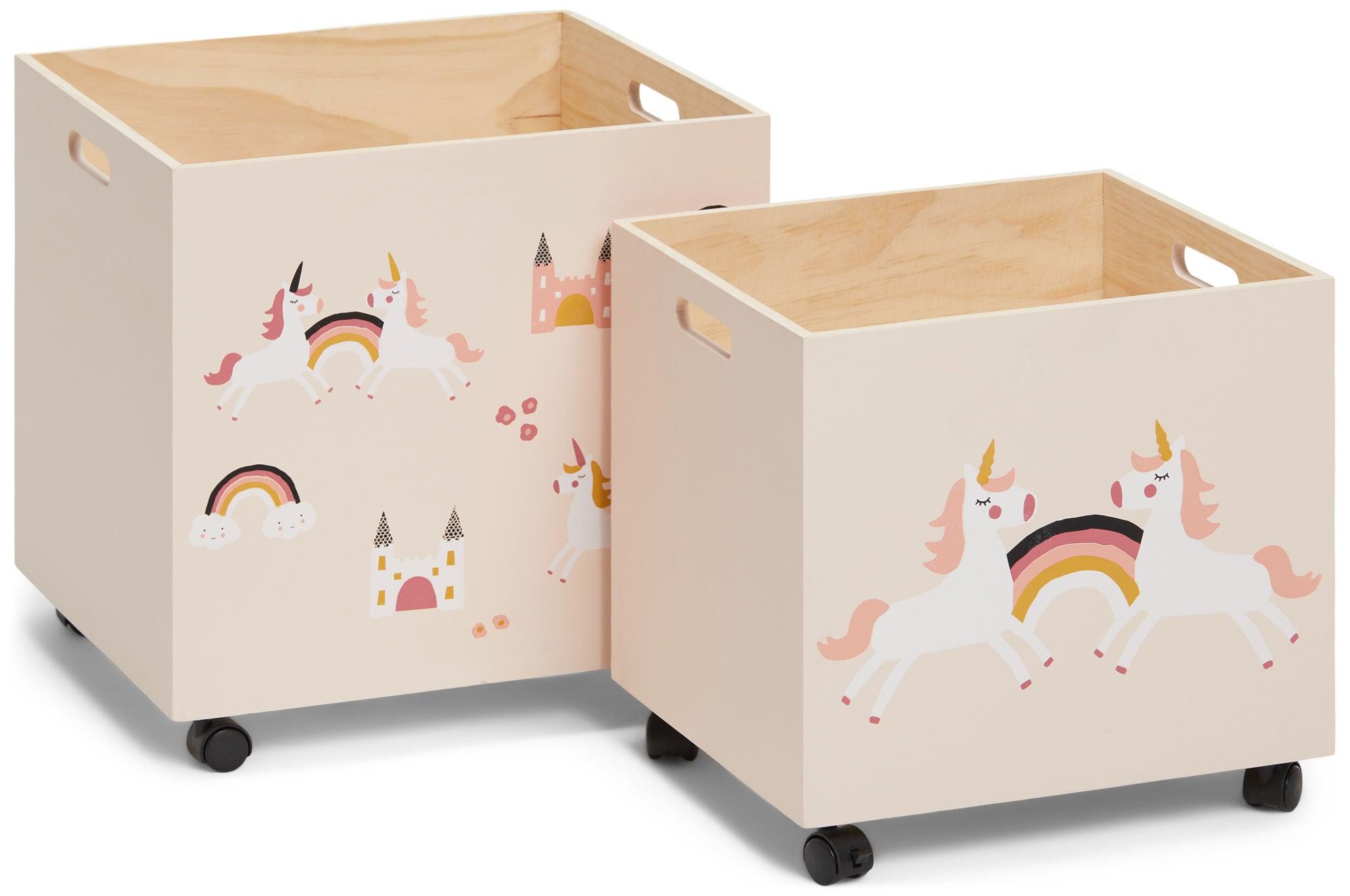 Alice & Fox Säilytyslaatikot 2-Pack, Unicorn