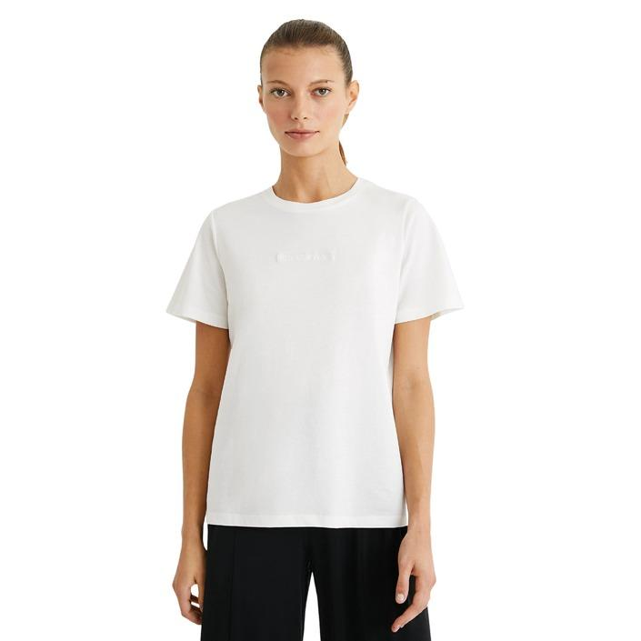 Desigual Women's T-Shirt White 270079 - white S