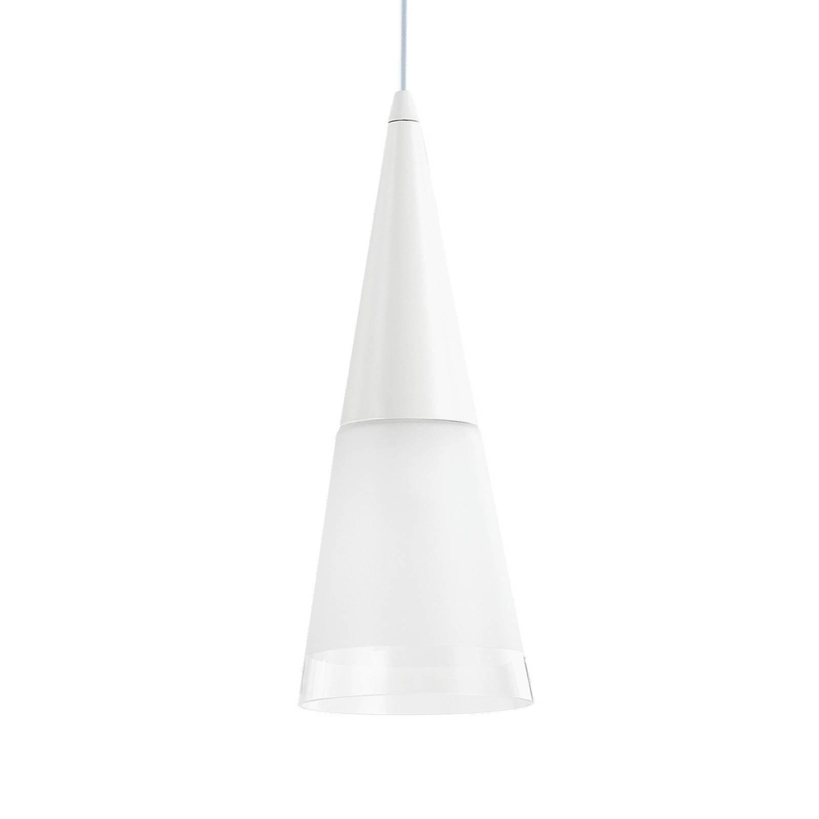 Riippuvalo Cono 1-lamppuinen valkoinen/läpinäkyvä