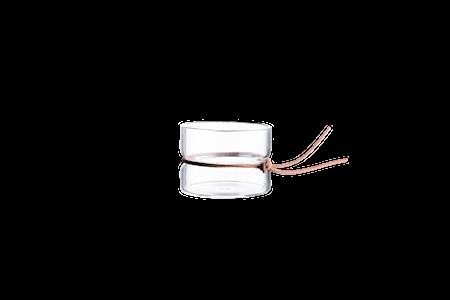 Värmeljuslykta glas Ø8 cm