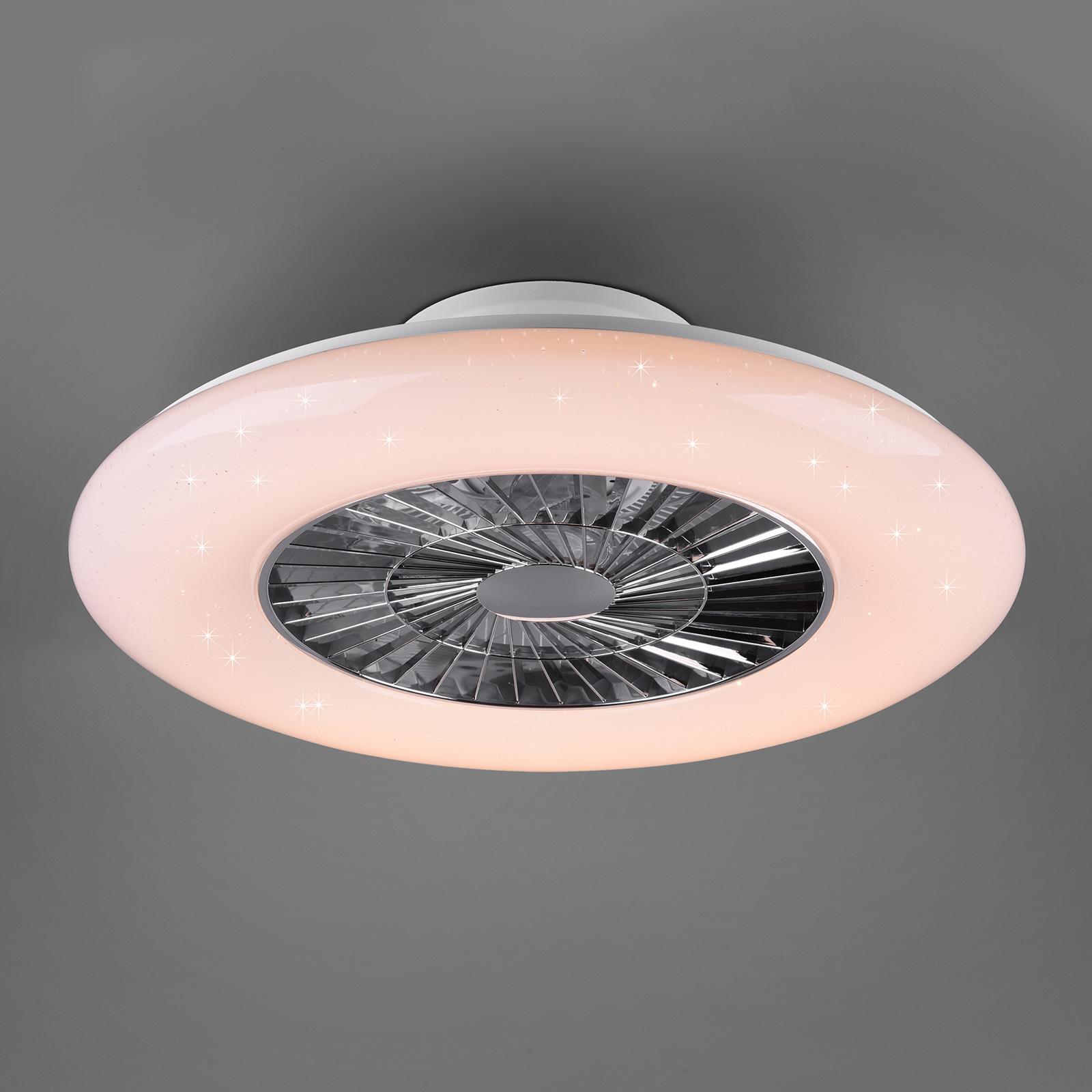 LED-kattotuuletin Visby, Ø 60cm, Tunable White