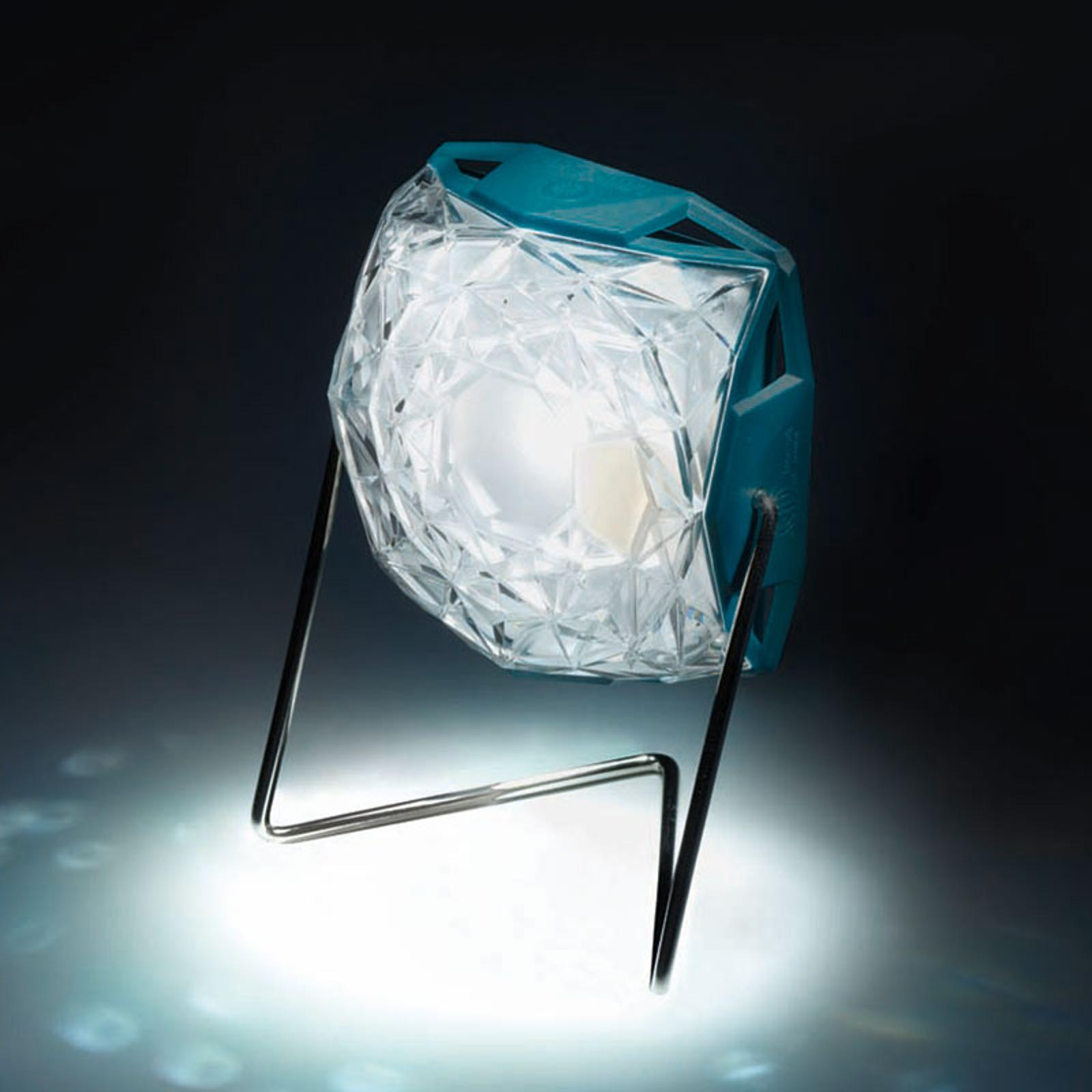 Aurinkokäyt. Little Sun Diamond -LED-valo, teline