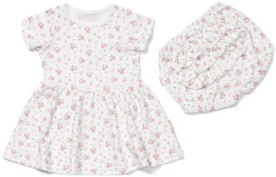 Petite Chérie Atelier Magnolia Kjole og Truse, White/Flowers 56