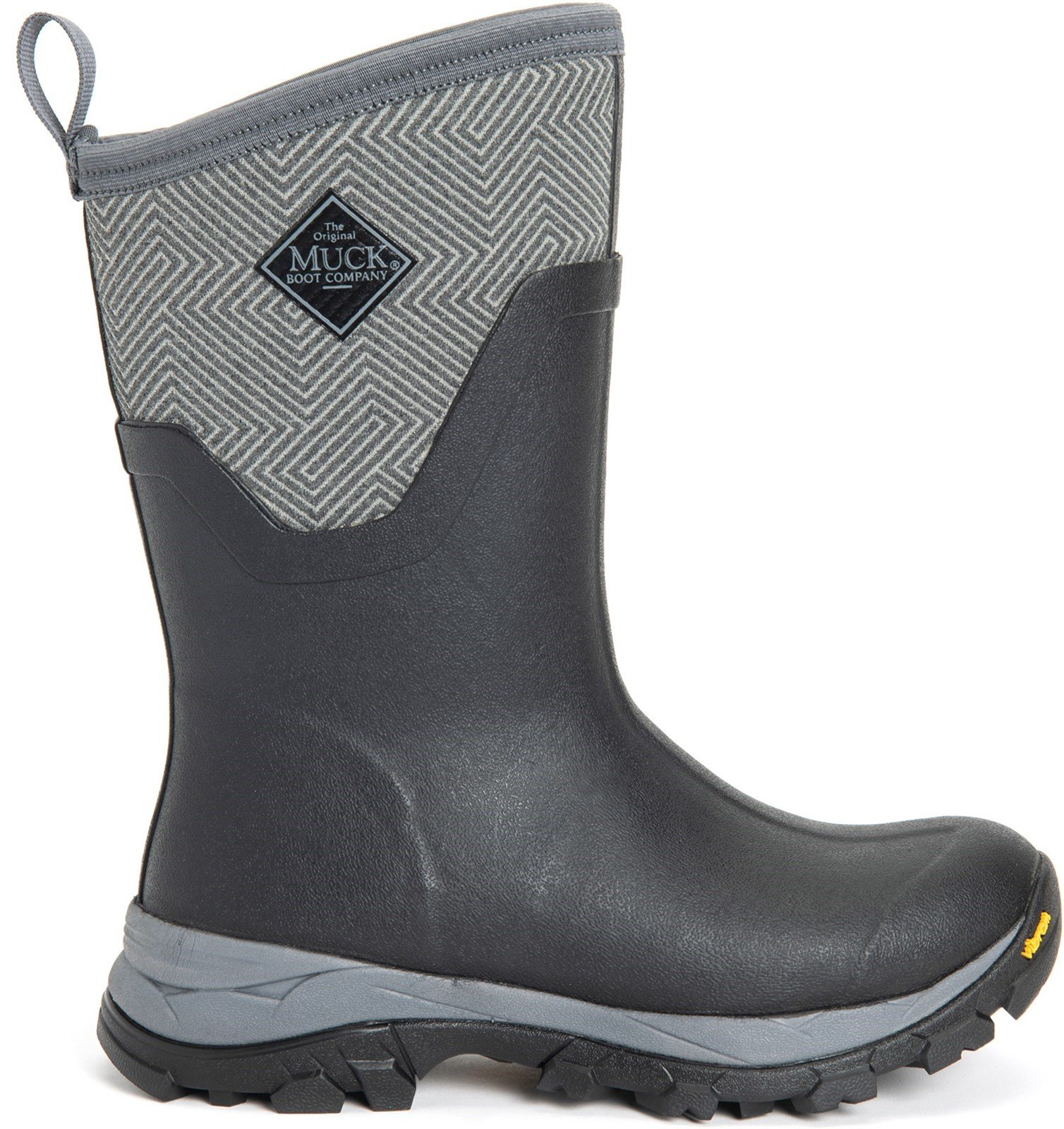 Muck Boots Unisex Arctic Ice Mid Boot Various Colours 27615 - Grey Geometric Print 3