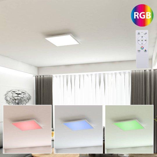 LED-panel Colour 29,5 x 29,5 cm med fjernkontroll