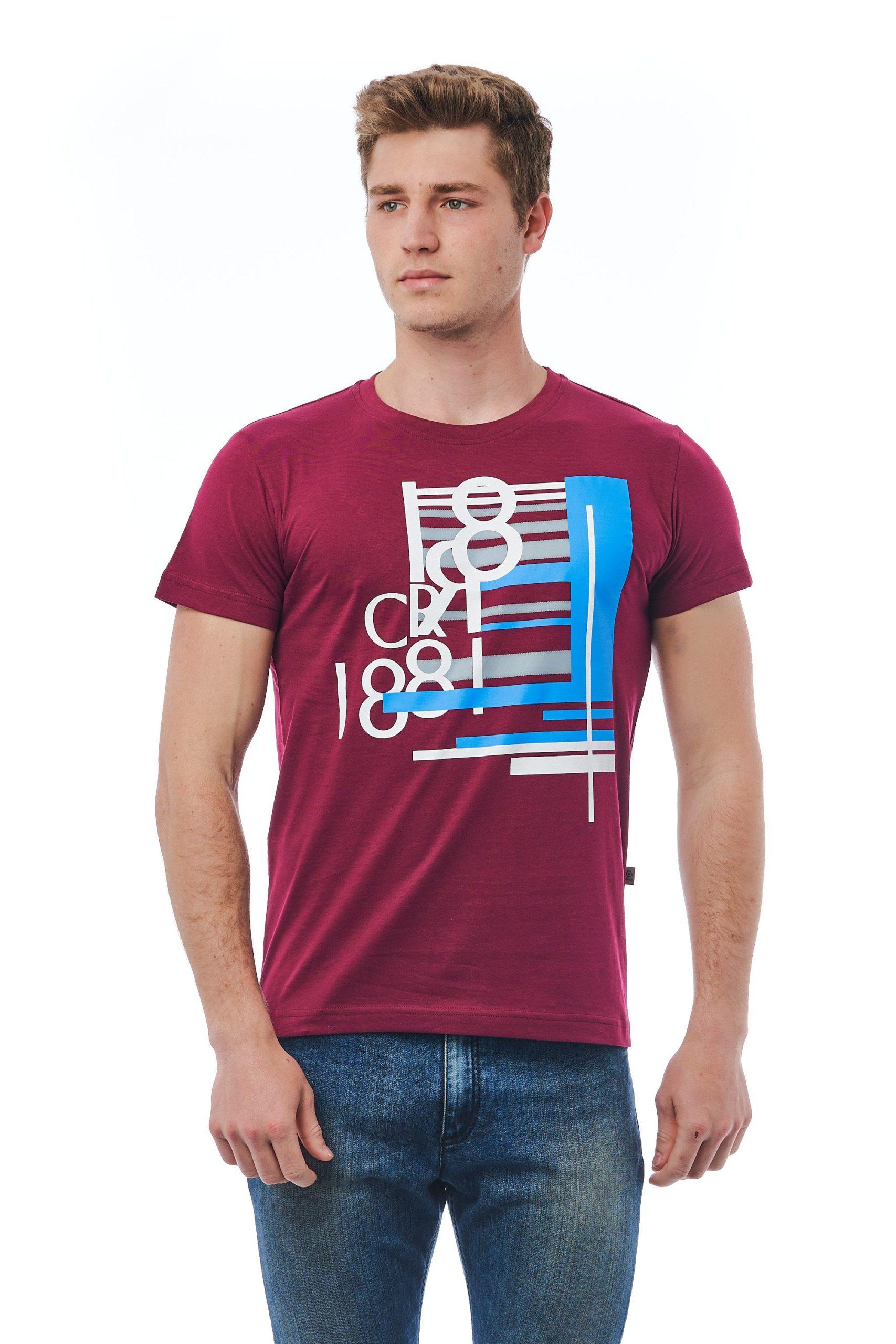 Cerruti 1881 Men's T-Shirt Burgundy CE1410095 - M