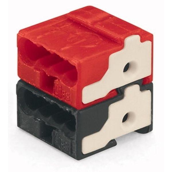 Wago 243-211 Klemme 14 x 10 x 10 mm, 50-pakning Svart/rød