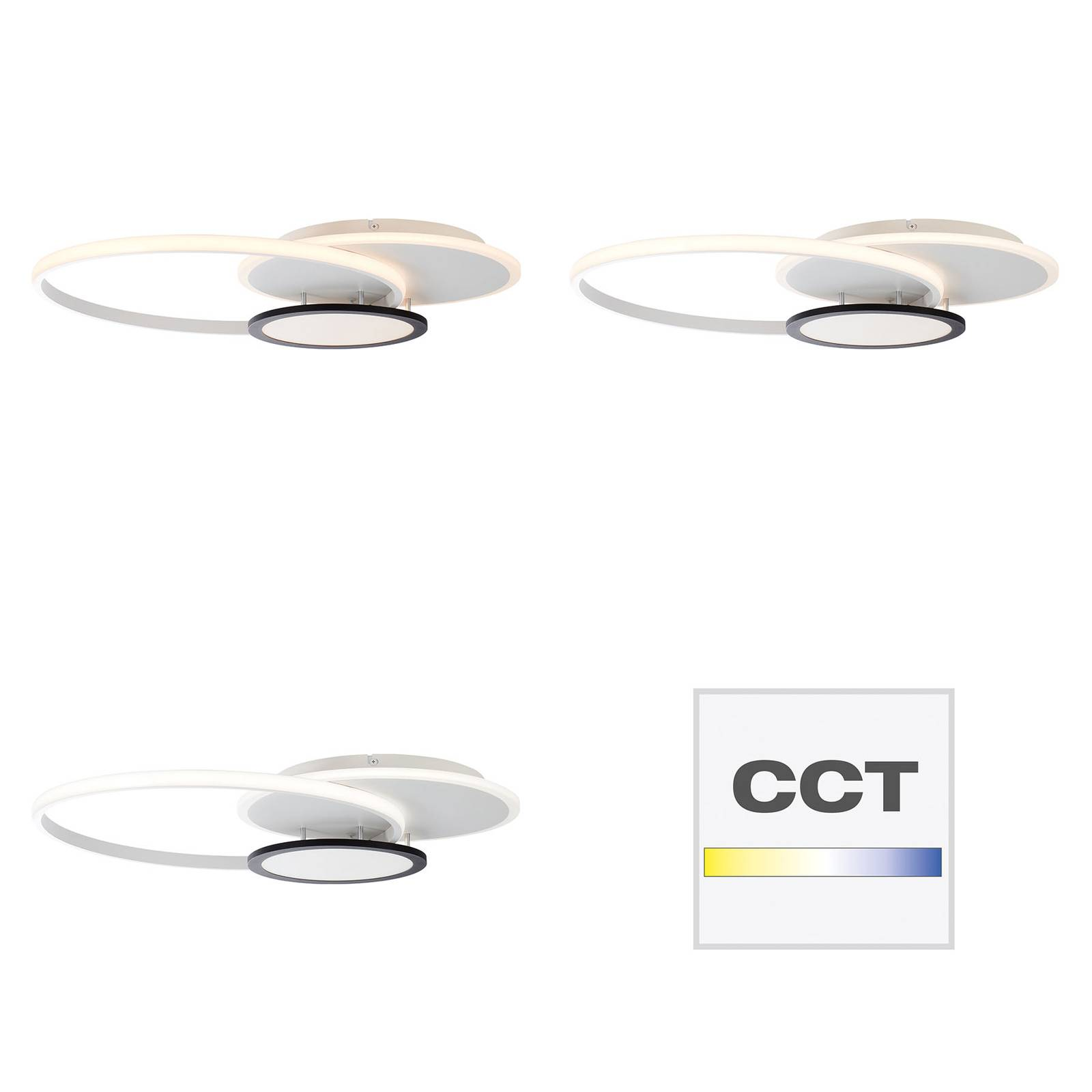 AEG Halsey -LED-kattovalaisin, CCT, himmennettävä