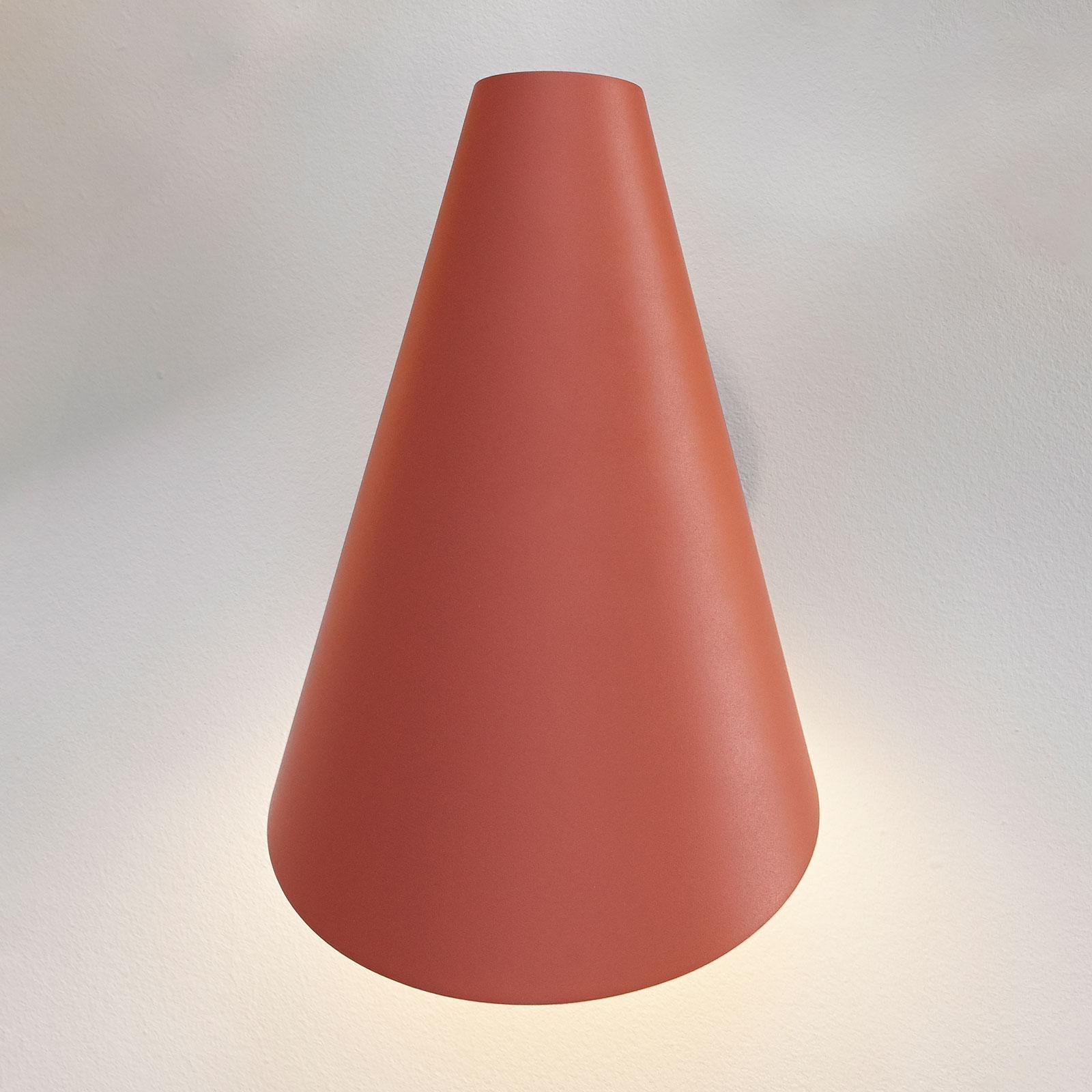 Vibia I.Cono 0720 seinävalaisin, 28 cm, punaruskea