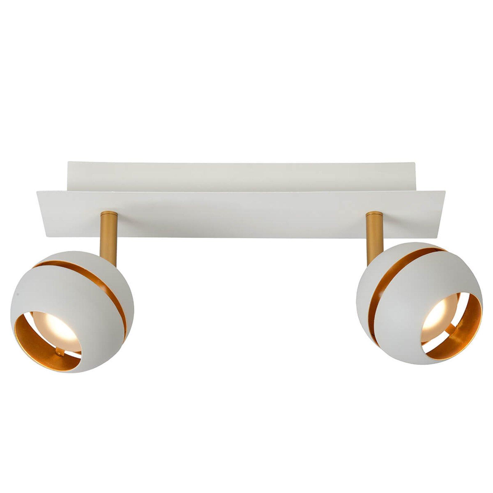 Binari LED-taklampe, 2 lyskilder, hvit