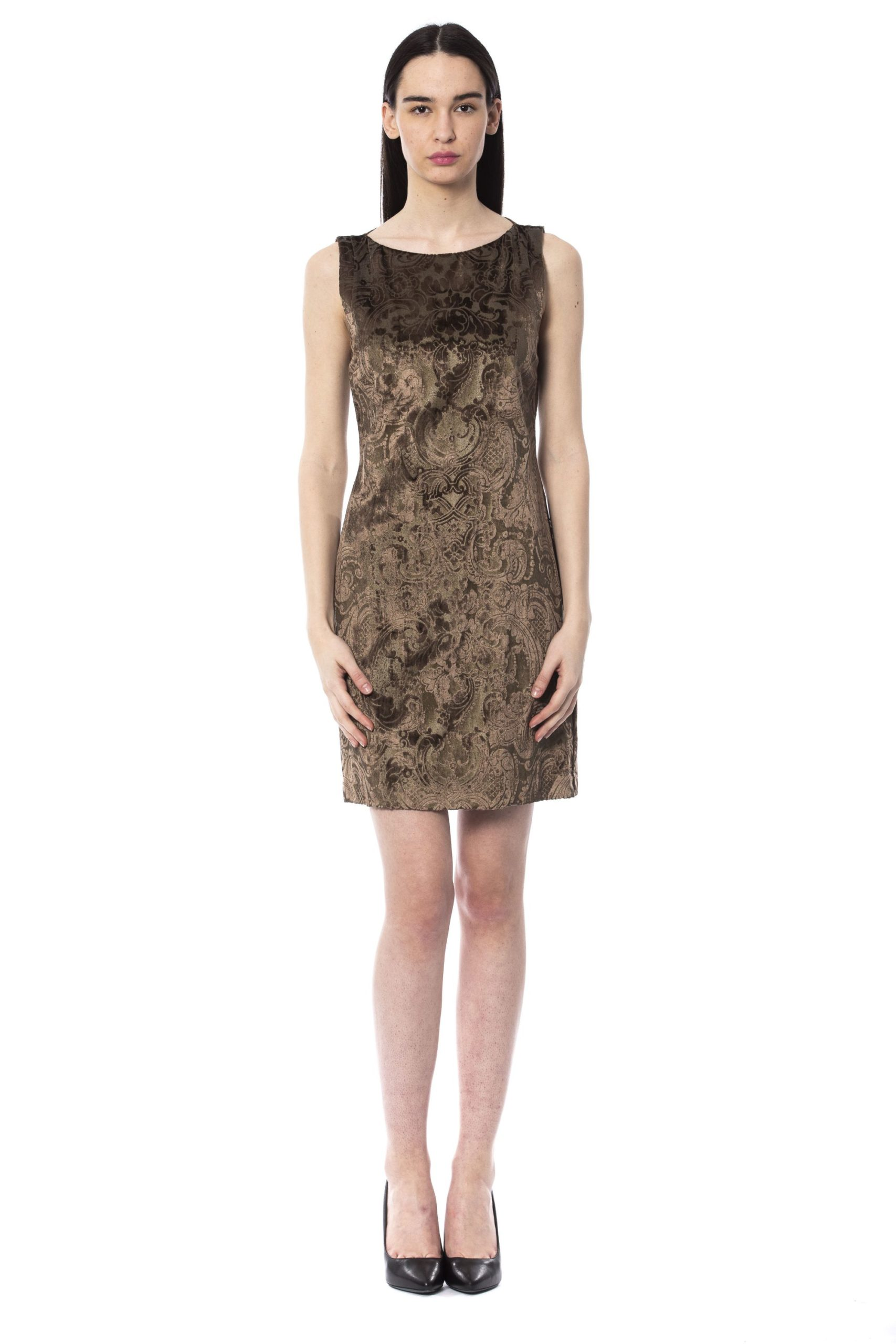 BYBLOS Women's Cacao Dress Brown BY994880 - IT44   M