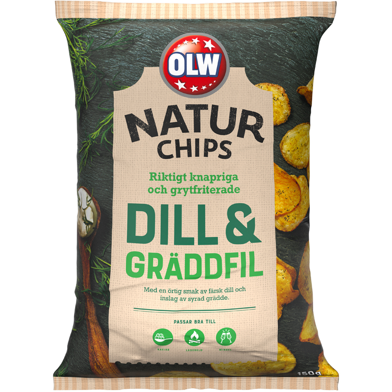 Naturchips Dill & Gräddfil - 25% rabatt