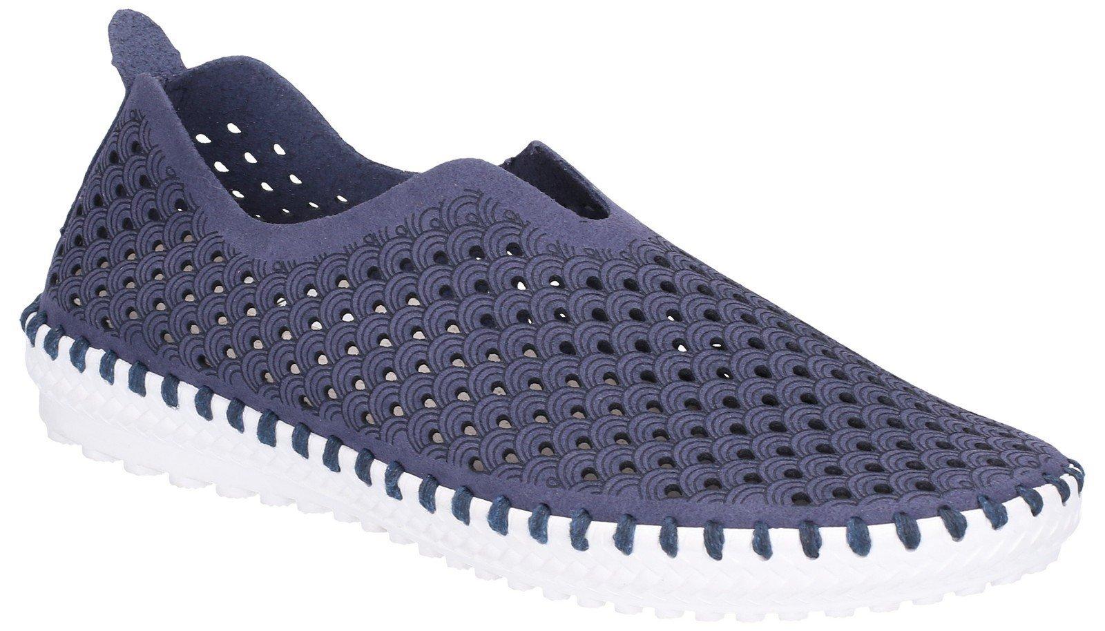 Divaz Women's Onyx Slip On Summer Trainer Blue 28307-47589 - Navy 7