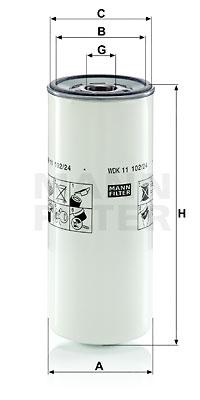 Polttoainesuodatin MANN-FILTER WDK 11 102/24