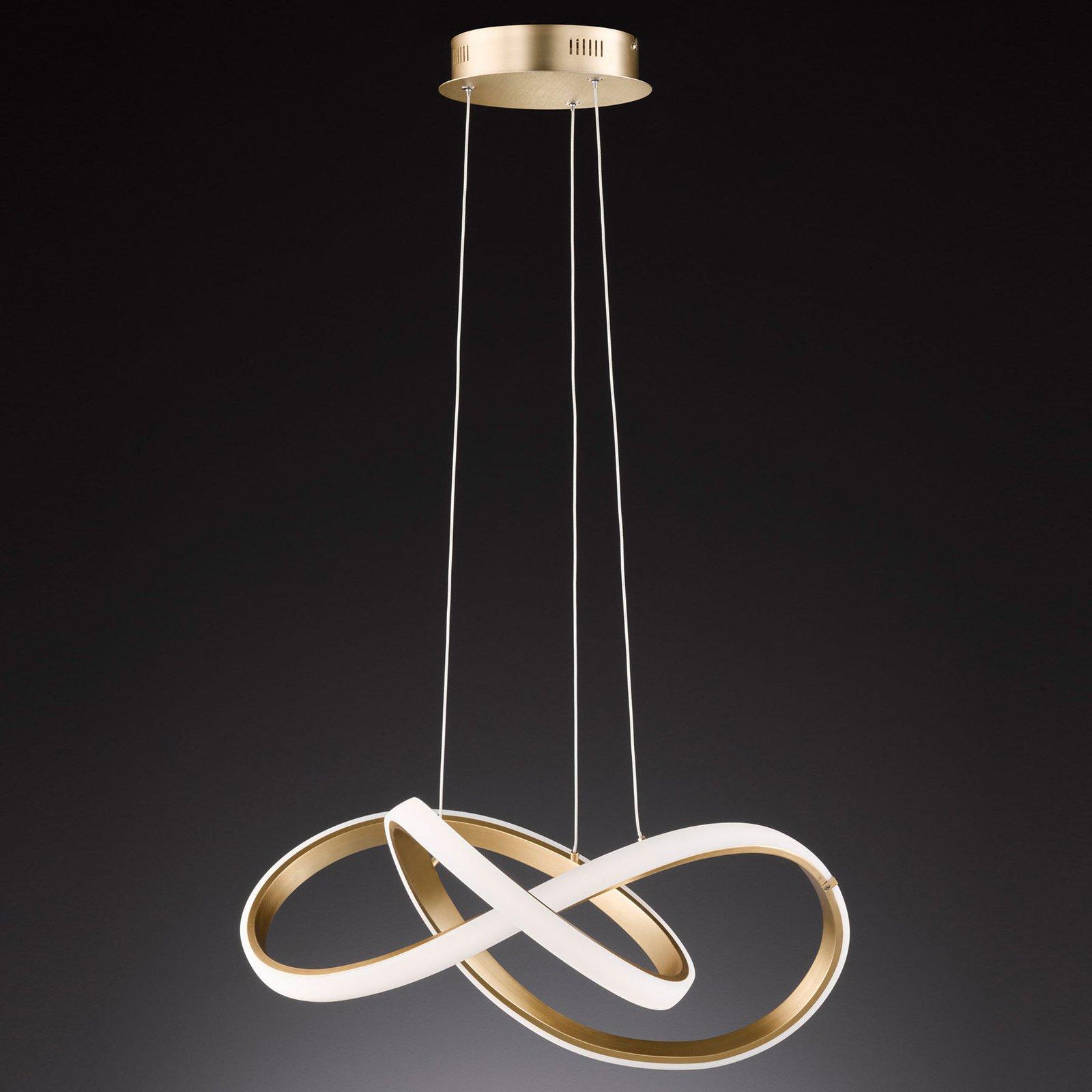 LED-vegglampe Indigo, gull