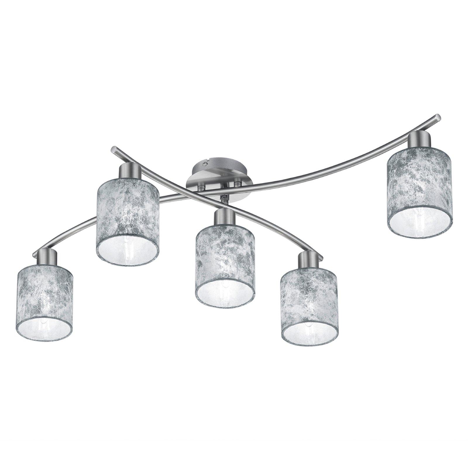 Garda - 5 lyskilder taklampe skjermer sølv