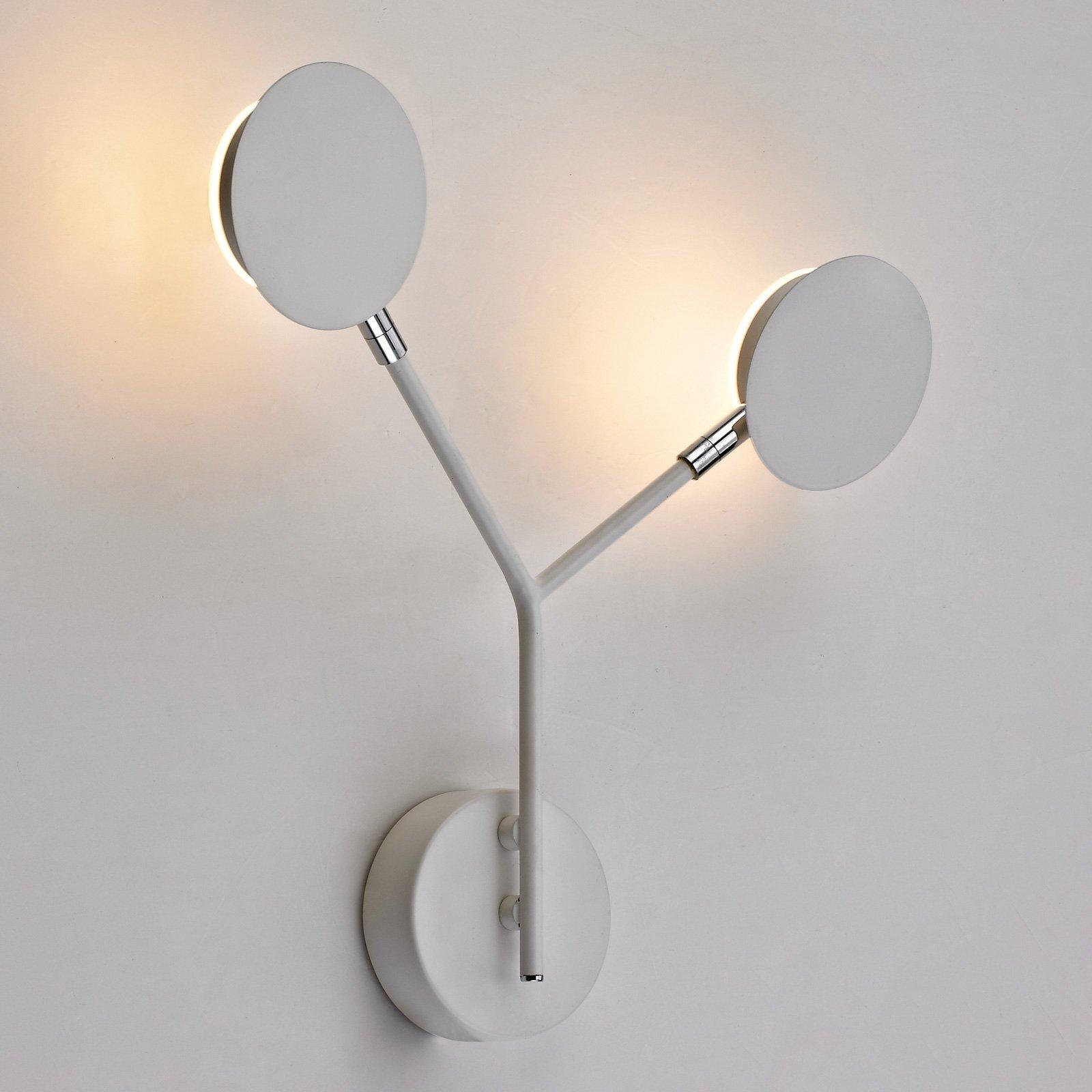 LED-vegglampe Belize, 2 lyskilder, hvit