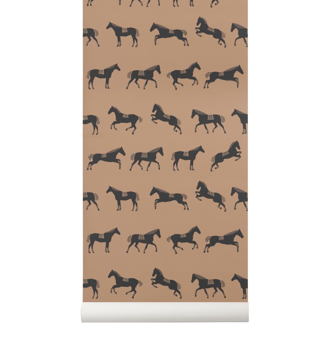 Barntapet HORSE brun, Ferm Living Kids
