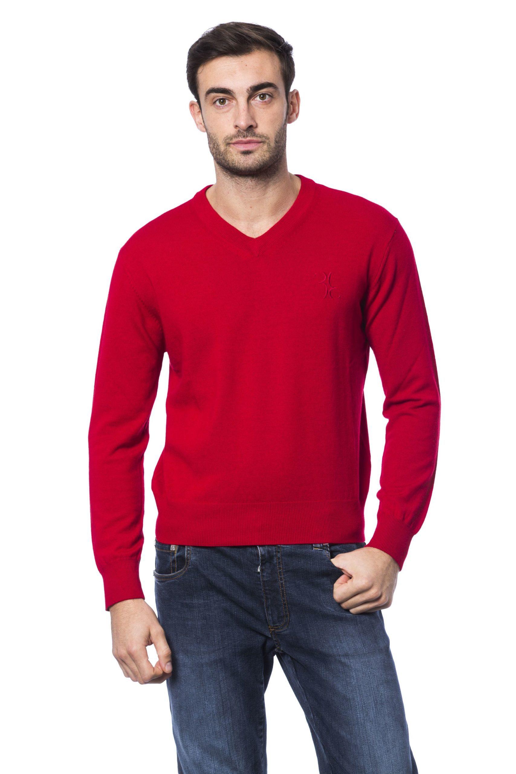 Billionaire Italian Couture Men's Rosso Sweater Red BI1271990 - S