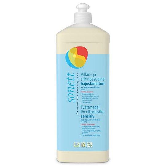 Sonett Ekologiskt Tvättmedel Sensitive för ull och silke, 1 L