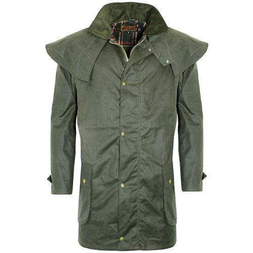 Game Technical Apparel Unisex Jacket Various Colours Wax Coat - Olive S