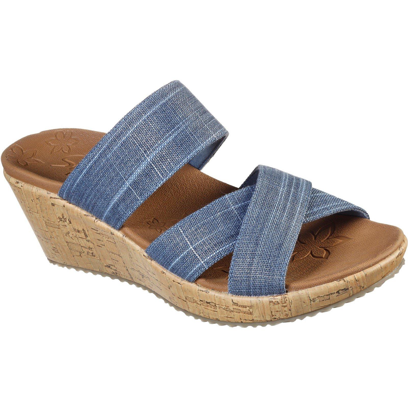 Skechers Women's Beverlee Canyon Dangle Summer Sandal Various Colours 32172 - Navy 8