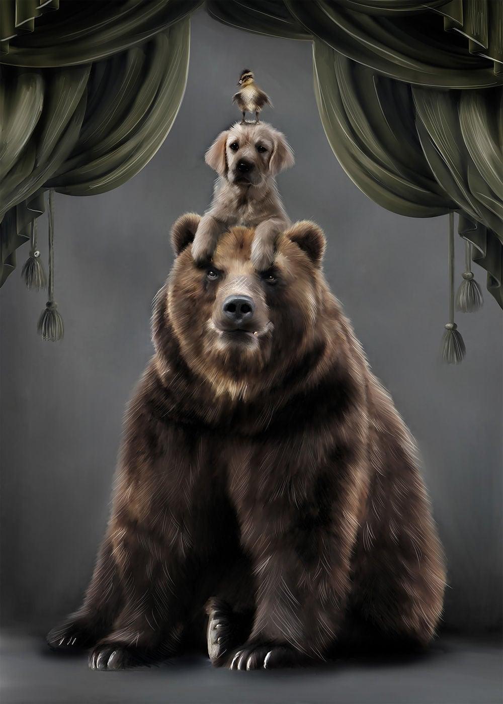 Linn Wold Juliste 30x40 Teddy & buds