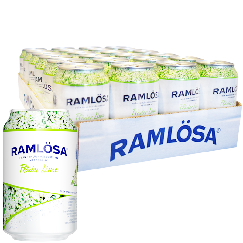 Ramlösa Fläder & Lime 24-pack - 20% rabatt