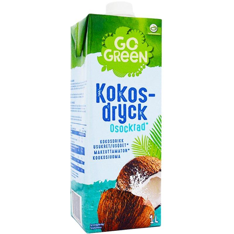 Kookosjuoma Sokeroimaton 1L - 50% alennus