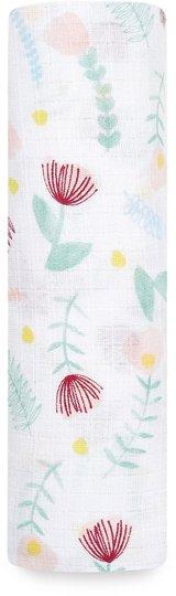 Aden + Anais Essentials Teppe Swaddle 110x110 Floral Fauna