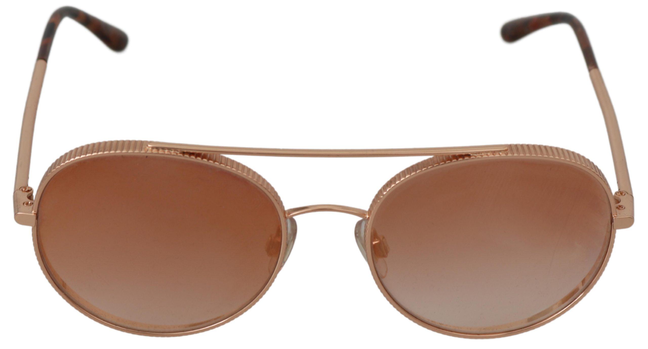 Dolce & Gabbana Women's Steel Gradient Pilot Sunglasses Gold GLA737