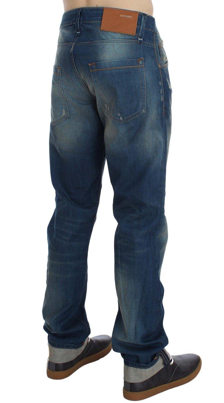 ACHT Men's Denim Cotton Stretch Baggy Fit Jeans Blue SIG30490 - W34