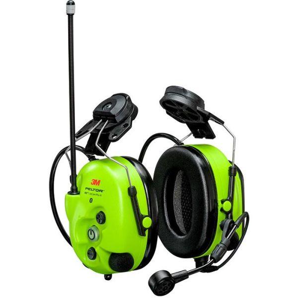 3M Peltor WS LiteCom III Hørselsvern med hjelmfeste, Bluetooth, Hi-Viz