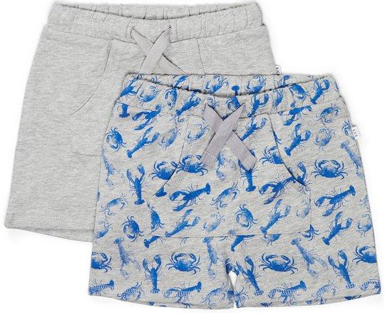 Luca & Lola Ricolo Shorts 2-pack, Grey Melange 86-92