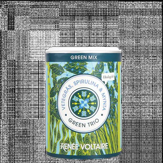 Green Mix - Vetegräs, Spirulina & Mynta, 100 g