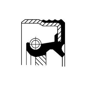 Oljepackningsring, differential, Bak, Framaxel, Utgång