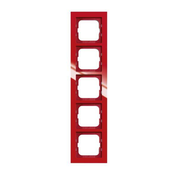 ABB Axcent Kombinasjonsramme rød 5 rom