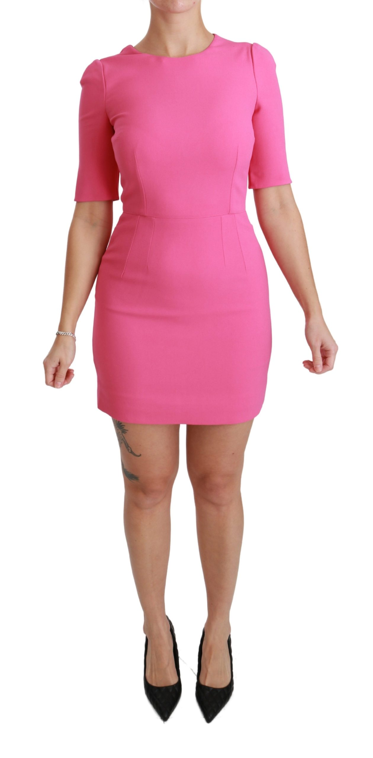 Dolce & Gabbana Women's Stretch Sheath Mini Dress Pink DR2467 - IT36 | XS